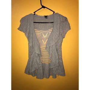 Grey woven cardigan